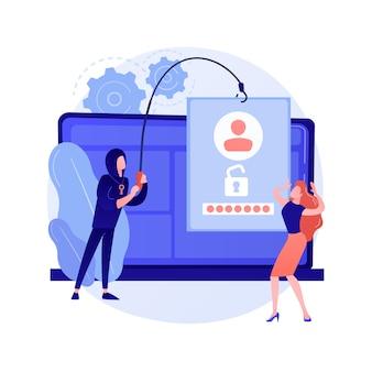 Ilustracja koncepcja kradzieży danych złośliwego oprogramowania