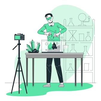 Ilustracja koncepcja kreatywnego eksperymentu