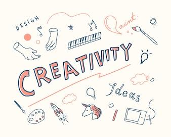 Ilustracja koncepcja kreatywności i innowacji