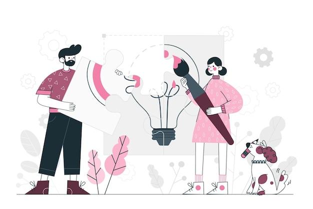 Ilustracja Koncepcja Kreatywności Darmowych Wektorów