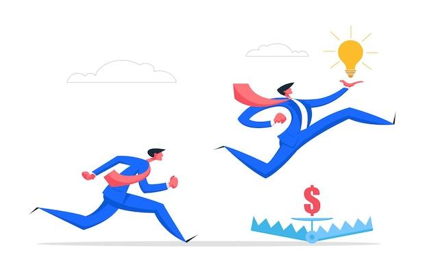 Ilustracja koncepcja kreatywny pomysł zarządzania ryzykiem biznesowym