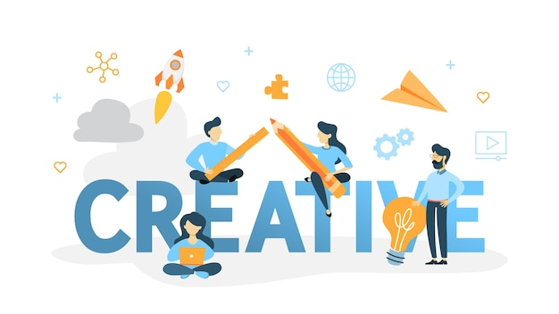 Ilustracja koncepcja kreatywnych