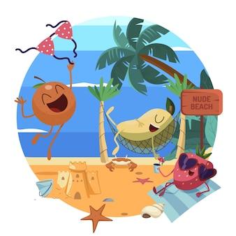 Ilustracja koncepcja kreskówka naturyzmu