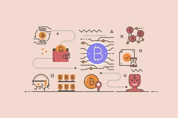 Ilustracja koncepcja kryptowaluty