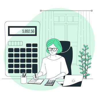 Ilustracja koncepcja księgowego