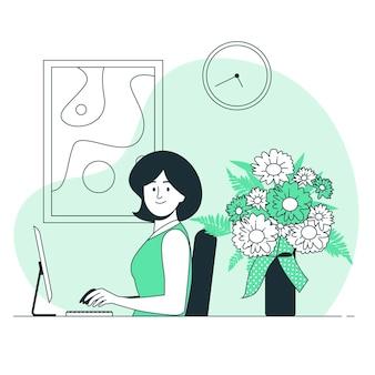 Ilustracja koncepcja kwiaty