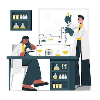 Ilustracja koncepcja laboratorium
