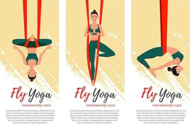 Ilustracja koncepcja latania jogi