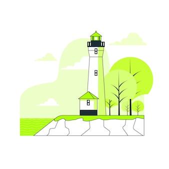 Ilustracja koncepcja latarni morskiej