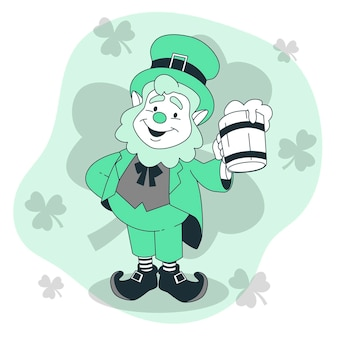 Ilustracja koncepcja leprechaun