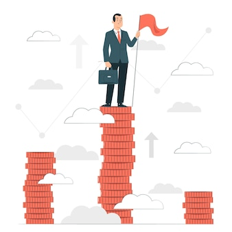 Ilustracja koncepcja liderów finansowych