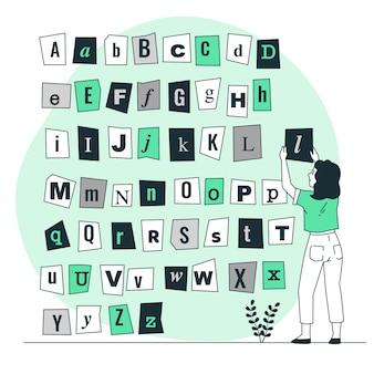 Ilustracja koncepcja listów listów okupu
