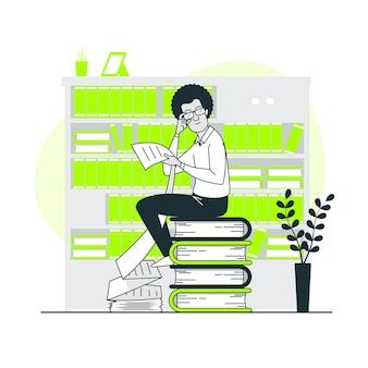 Ilustracja koncepcja listy czytania