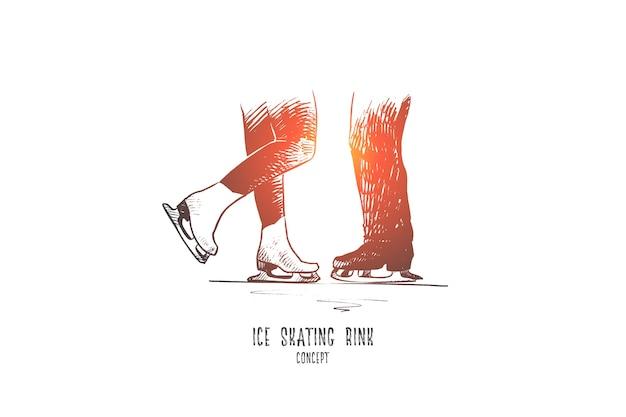 Ilustracja koncepcja lodowisko