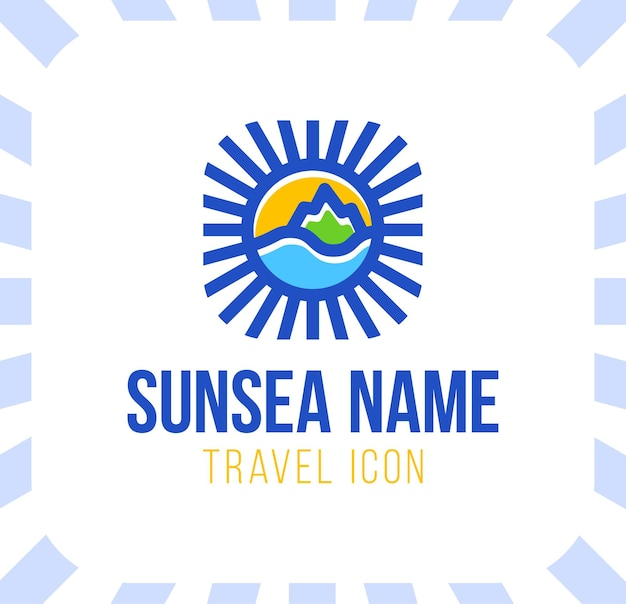 Ilustracja koncepcja logo wakacje wakacje w kształcie koła