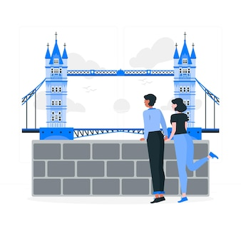Ilustracja koncepcja londynu