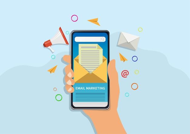 Ilustracja koncepcja marketingu e-mailowego