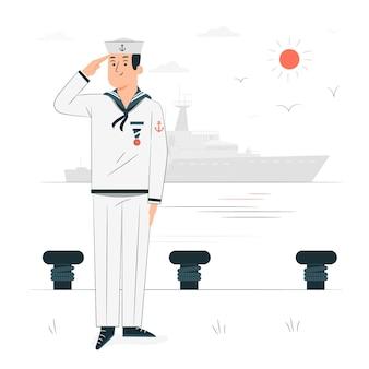 Ilustracja koncepcja marynarza