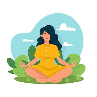 Ilustracja koncepcja medytacji