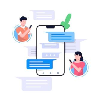 Ilustracja koncepcja messenger