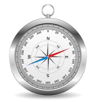 Ilustracja koncepcja metalowego kompasu