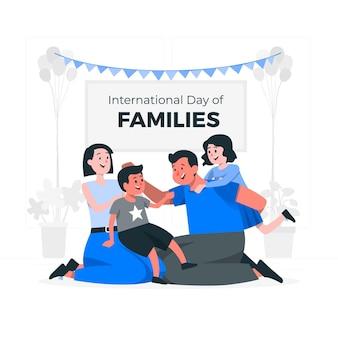 Ilustracja koncepcja międzynarodowego dnia rodzin