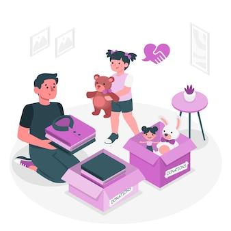Ilustracja koncepcja miłości