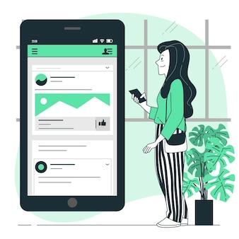 Ilustracja koncepcja mobilnej paszy