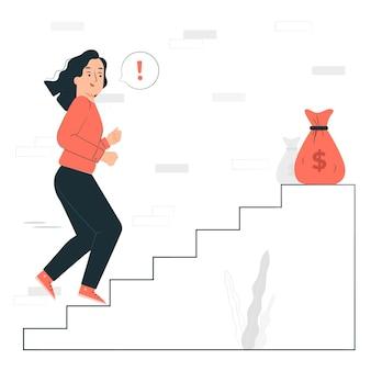 Ilustracja koncepcja motywacji pieniędzy