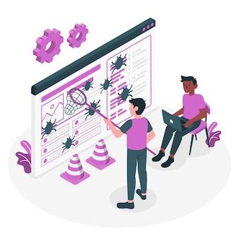 Ilustracja koncepcja naprawiania błędów