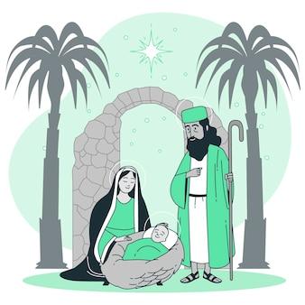 Ilustracja koncepcja narodzenia