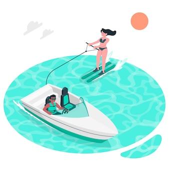 Ilustracja koncepcja nart wodnych