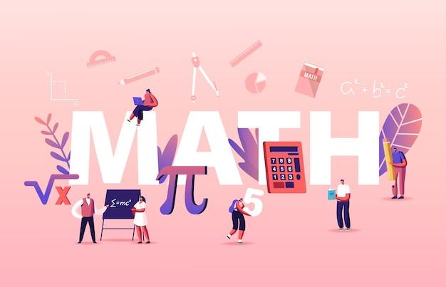 Ilustracja koncepcja nauki matematyki