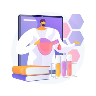Ilustracja koncepcja nauki online korepetycje. spersonalizowana nauka, internetowa platforma edukacyjna, nauczanie w domu