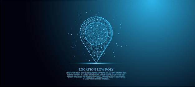 Ilustracja koncepcja nawigacji low poly