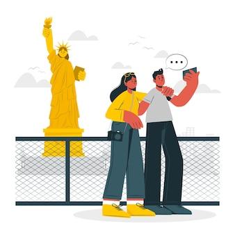 Ilustracja koncepcja nowego jorku