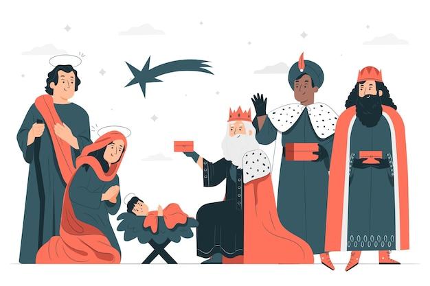 Ilustracja koncepcja objawienia pańskiego