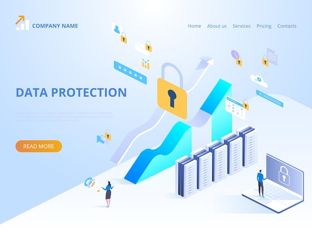 Ilustracja koncepcja ochrony danych