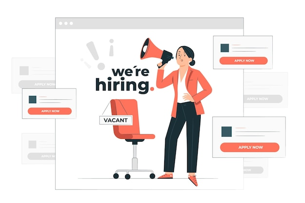 Ilustracja koncepcja ofert pracy