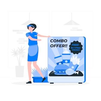 Ilustracja koncepcja oferty combo