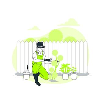 Ilustracja koncepcja ogrodnictwo