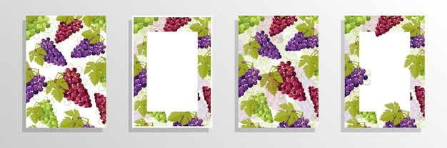 Ilustracja koncepcja okładki wina winogron