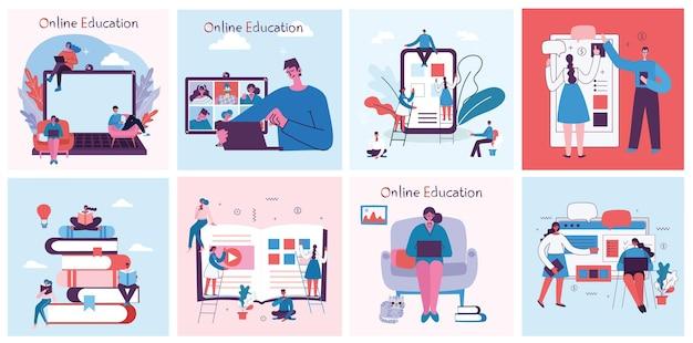 Ilustracja koncepcja online seminarium internetowego