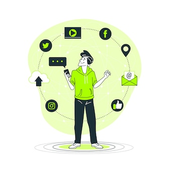 Ilustracja koncepcja online