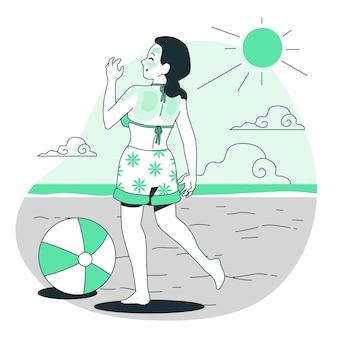 Ilustracja koncepcja oparzenia słonecznego