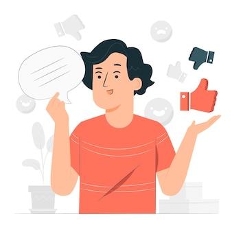 Ilustracja koncepcja opinii
