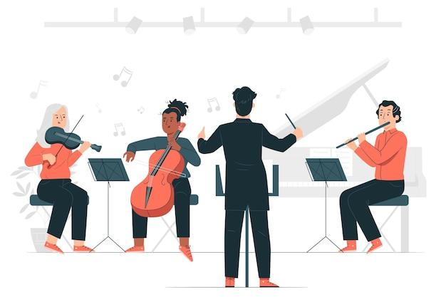 Ilustracja koncepcja orkiestry