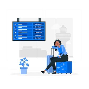 Ilustracja koncepcja osieroconych podróżników
