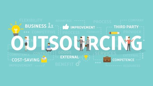 Ilustracja koncepcja outsourcingu.