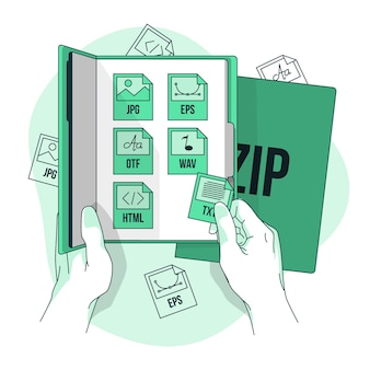 Ilustracja koncepcja pakietu plików